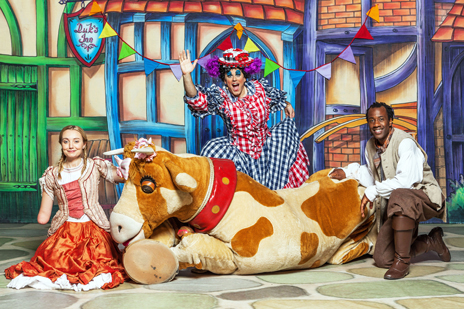 Cerrie (left) in last year's CBeebies panto