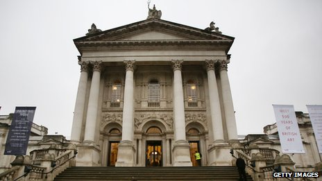 Tate Britain's Millbank entrance