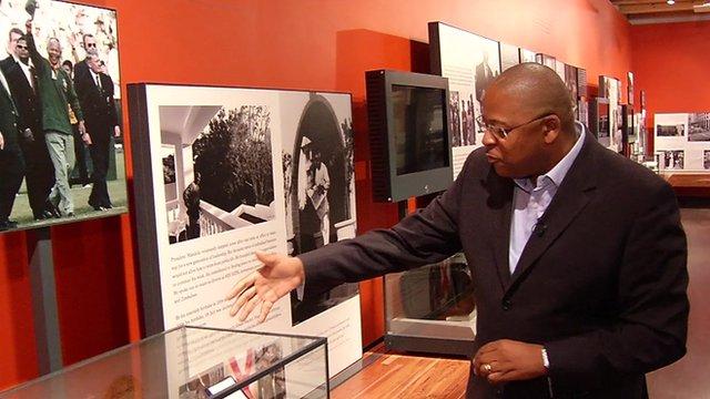 Milton Nkosi in the Nelson Mandela Centre of Memory