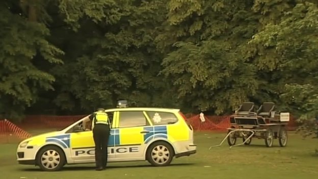 Police car and horse carriage, Nowton Park, Bury St Edmunds