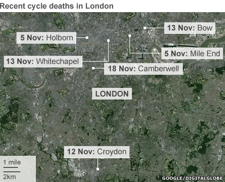 Fatal cycle crashes