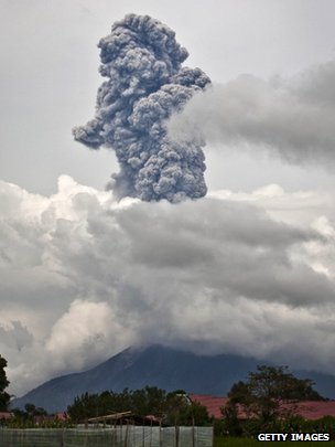 The eruption at Sinabung prompted many to leave their homes