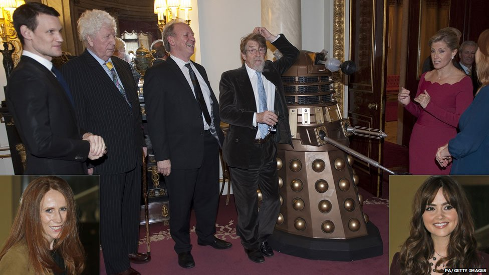 Doctor Who stars at Buckingham Palace