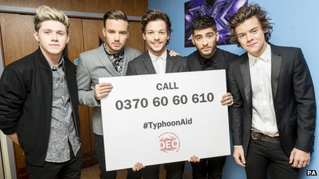 One Direction holding DEC appeal banner