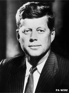 John F Kennedy, pictured on 23 October 1962
