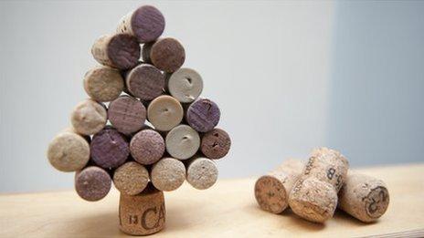 Cork xmas trees