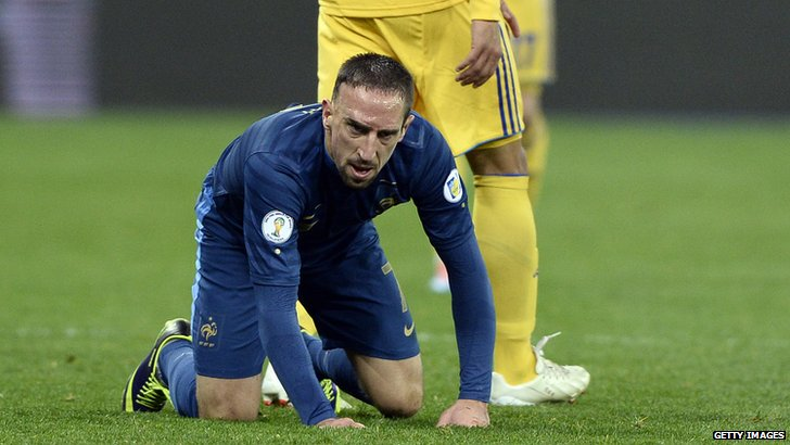 France forward Franck Ribery