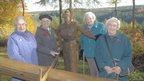 Left to right - Lumberjills Edna Holland, Catherine Pinnington, Margaret Rayner and Doreen Loewy
