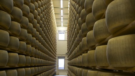Parmesan cheese store