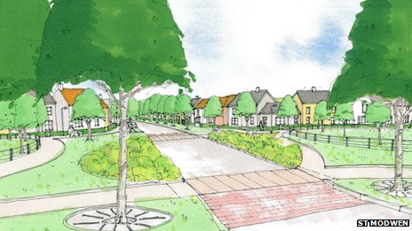 Artist's impression of the new development