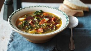Caldo verde (Portuguese cabbage soup)