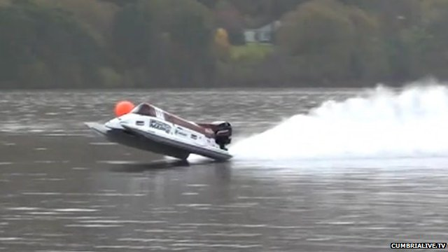 Powerboat flipping on Coniston Water