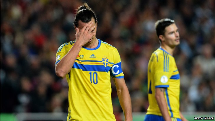 Sweden forward Zlatan Ibrahimovic