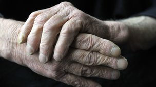 Older man's hands