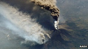 Etna from the ISS taken with an 800mm lens