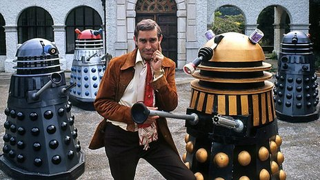 Terry Nation and his Daleks, seen in 1973