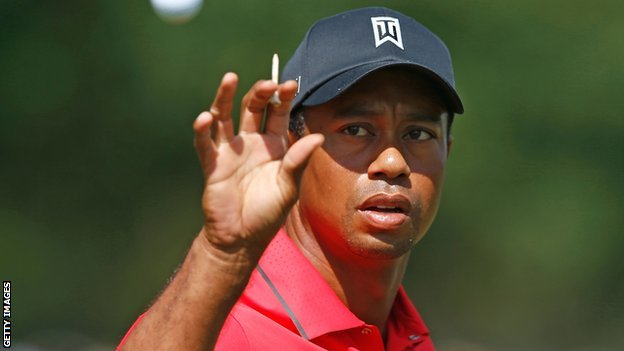 Tiger Woods suffered a two-stroke penalty at the BMW Championships in September