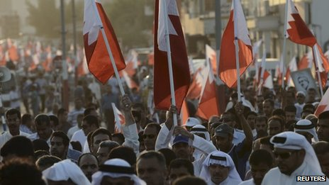 Protest south of Manama organised by Wefaq (1 November 2013)