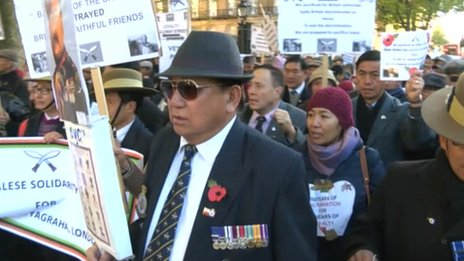 Gurkha march on London