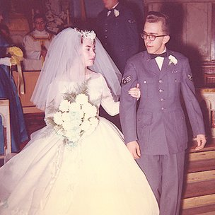 Beverly Nagy's wedding day