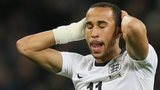 England winger Andros Townsend reacts after missing a chance