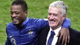 Patrice Evra and Didier Deschamps