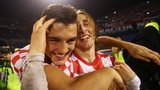 Luka Modric (right) and Mateo Kovacic celebrate Croatia's World Cup play-off win