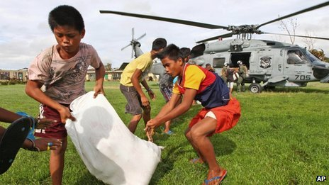 Many nations have pledged aid for typhoon-hit areas of the Philippines