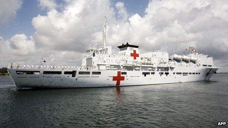 File photo: Chinese Naval hospital ship the Peace Ark