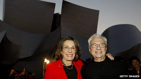 Diane Disney Miller and Frank Gehry