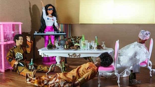 Barbie dolls' wedding party
