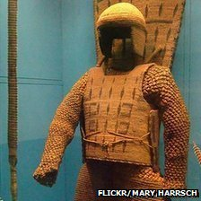 A suit of coconut armour in the American Museum of Natural History