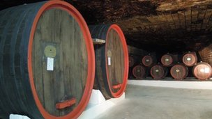 Wine barrels in Cricova