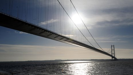 The Humber Bridge in Hull