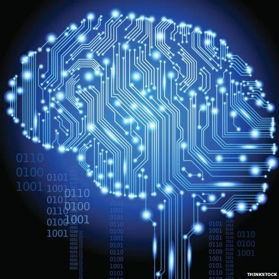 A brain with circuits and code