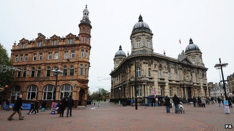 The Maritime Museum (right) in Hull