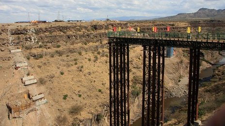 Uncompleted railway bridge, Ethiopia