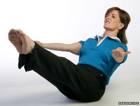 """Laurette Willis in her """"Jars of Clay"""" position"""