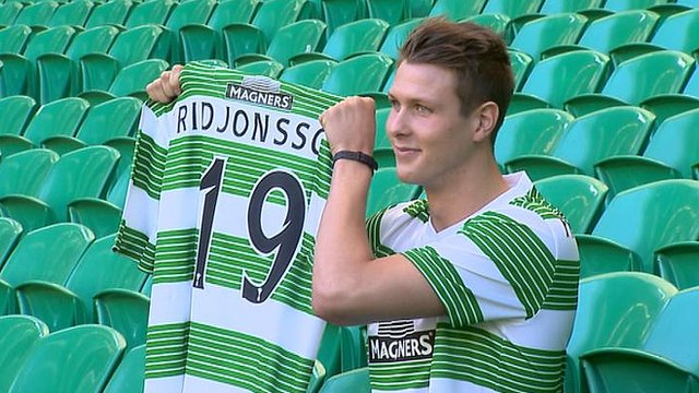 Celtic striker Holmbert Fridjonsson