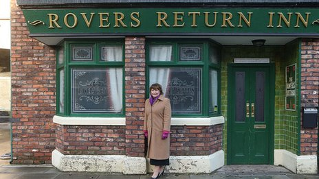 Scotland's Culture Secretary Fiona Hyslop visited the set of Coronation Street while in Salford