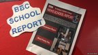 School Report noticeboard at St Michael's Catholic College
