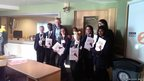 School reporters pose with Radio 2 presenter Jeremy Vine.