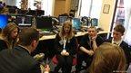 School Reporters in an editorial meeting