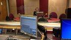 School reporter Connor in the studio at Millbank