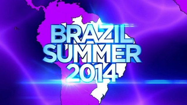 Graphic image of map of Brazil with test saying: Brazil Summer 2014