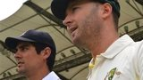 England captain Alastair Cook and Australia captain Michael Clarke