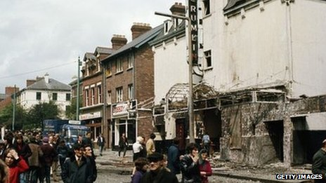 The aftermath of an IRA bomb in Belfast in 1972