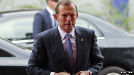 File photo: Australian Prime Minister Tony Abbott