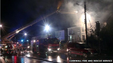 House fire in Victoria Road, St Austell