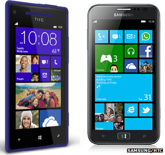 HTC 8X and Samsung Ativ S